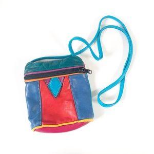 Handbags - Vintage 90s Rainbow Leather Purse